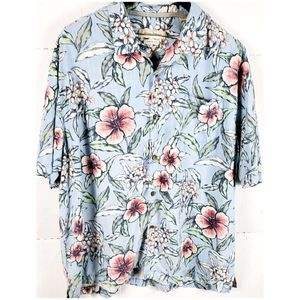 Tommy Bahama Loud Floral Print Casual Hawaiian